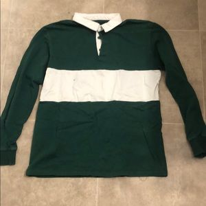 Green collard shirt